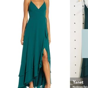 Lulu's Green Maxi Dress